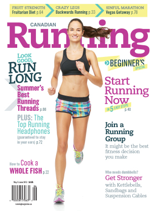 Canadian Running_May June 2013 cover