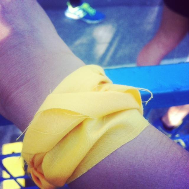 yellow ribbon for Boston