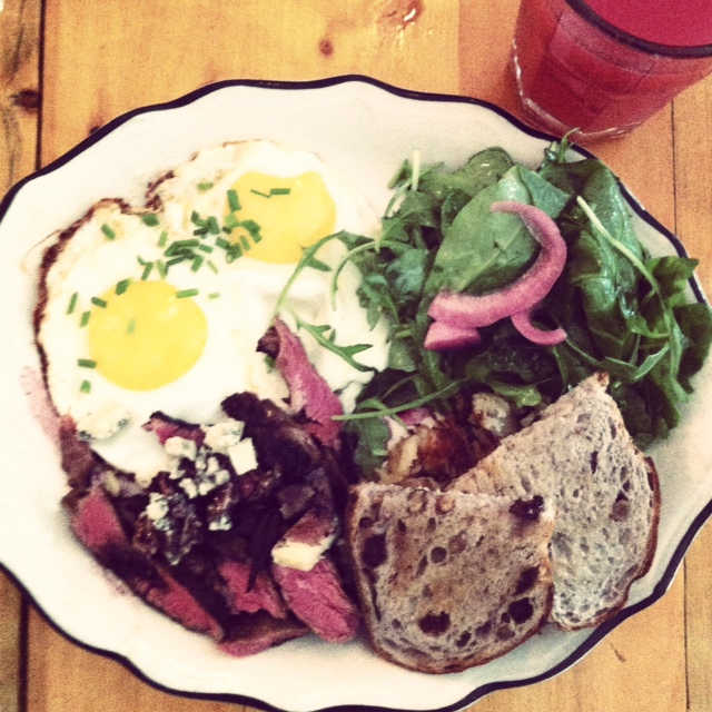 The Federal steak and eggs