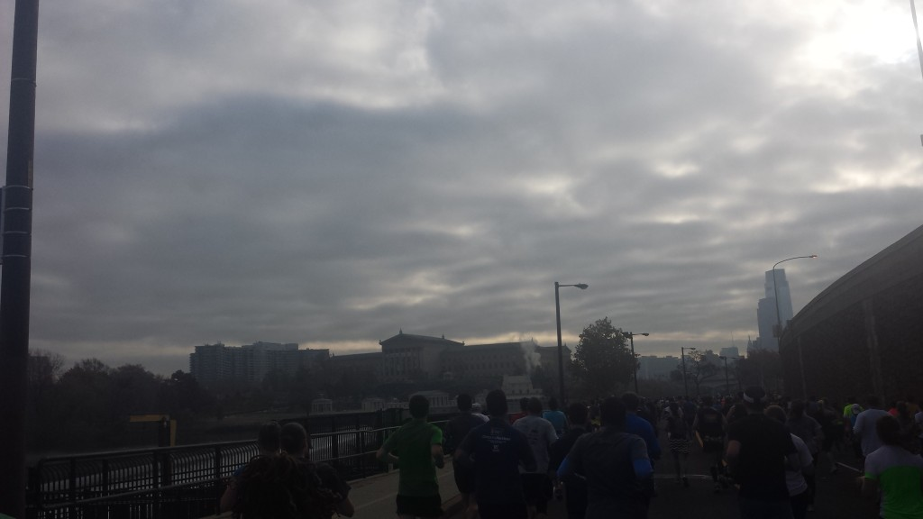 Along the route of the Philly Marathon
