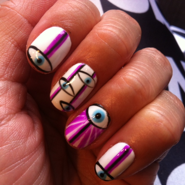 evil eye manicure left hand