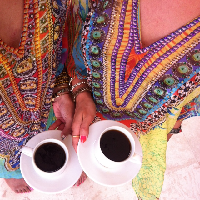 caftans and coffee in Bonaire