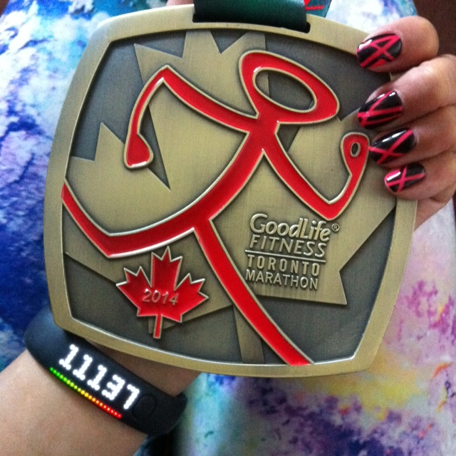 Goodlife Toronto Marathon 2014 medal