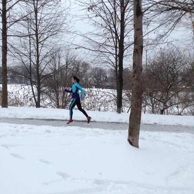 run in Champion gear in Trinity Bellwoods park