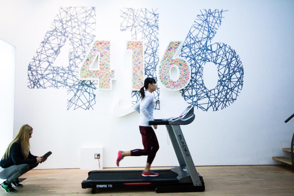 "run analysis at Nike ""The Loft"""