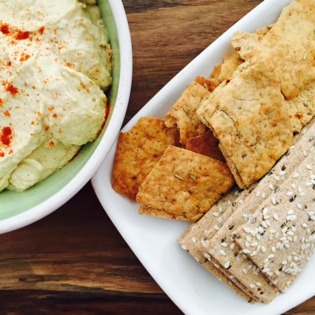hummus and lavash and pita crisps