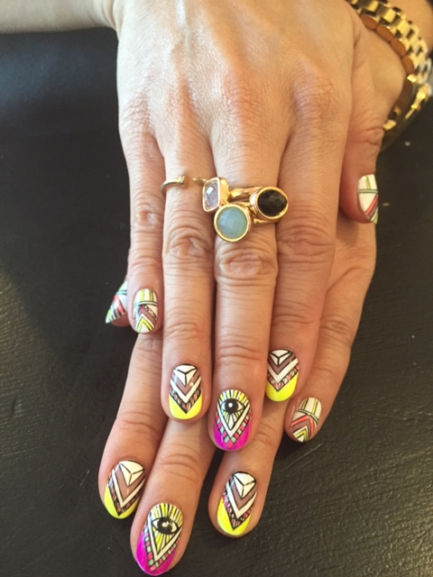 Mara Hoffman-inspired nail art