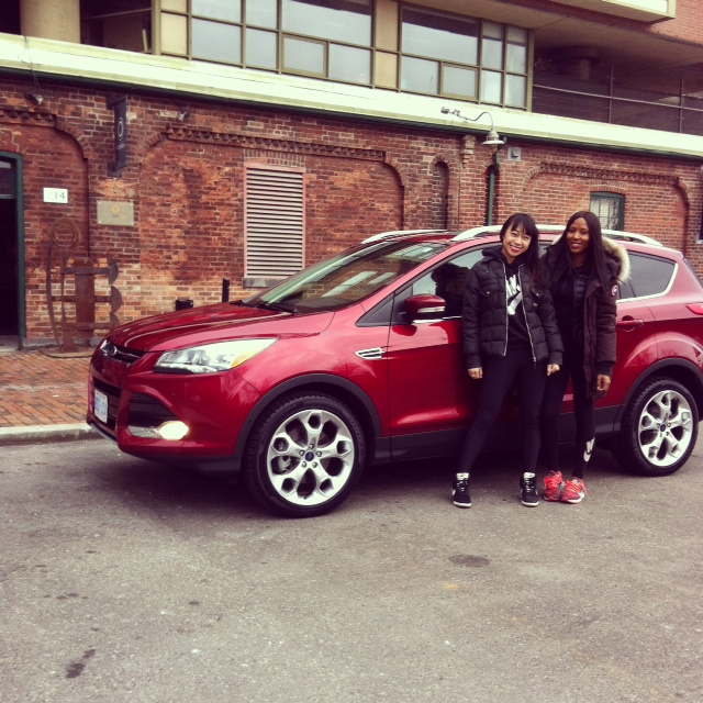 With Sasha as we hit the road with Ford Canada to Muskoka
