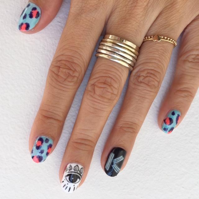 Kenzo manicure (left hand)