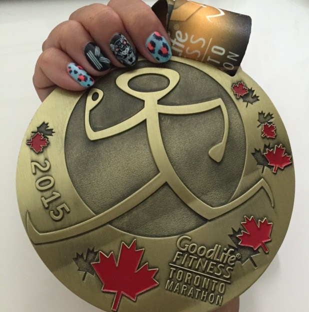 Toronto Marathon 2015 medal