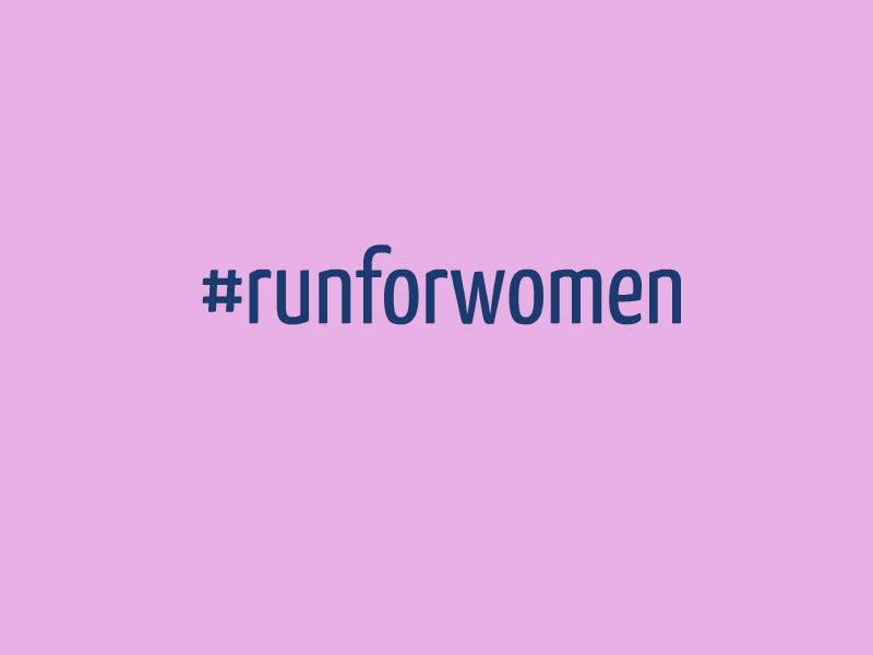 run for women hashtag image