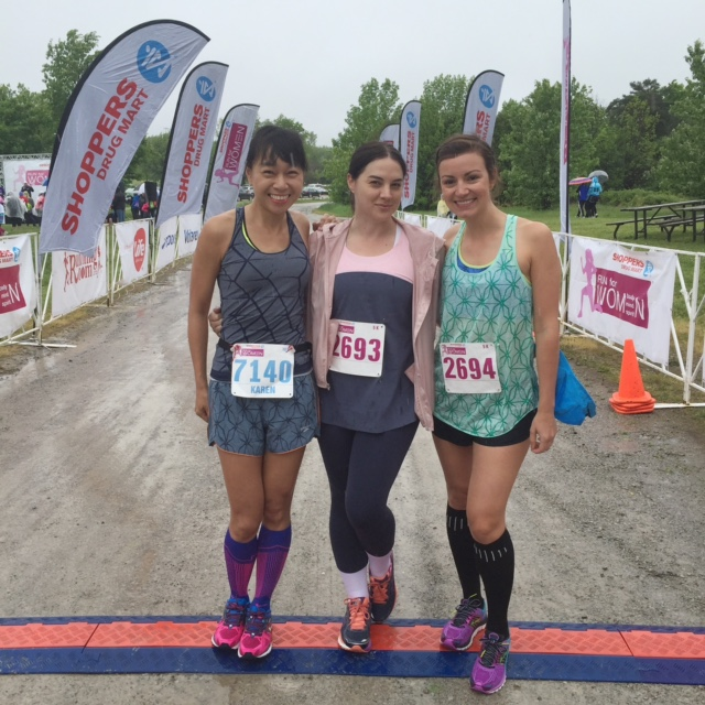 With Anya and Simone before the Run for Women