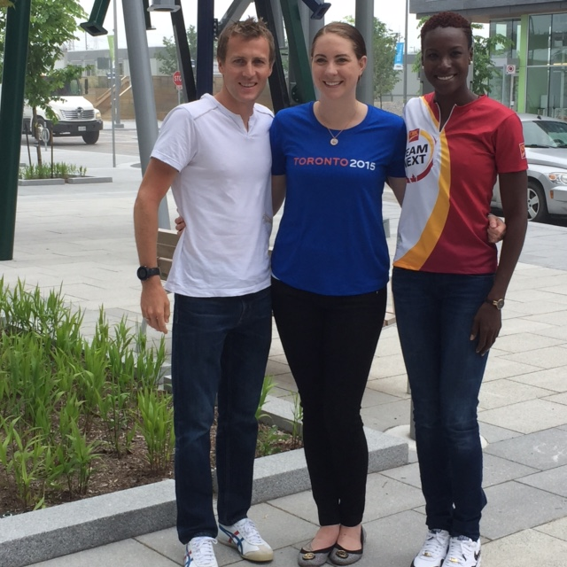 Triathlete Kyle Jones, retired swimmer Julia Wilkinson and sprinter Kim Hyacinthe