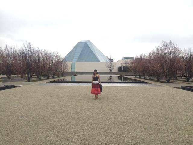 Outside the Aga Khan Museum