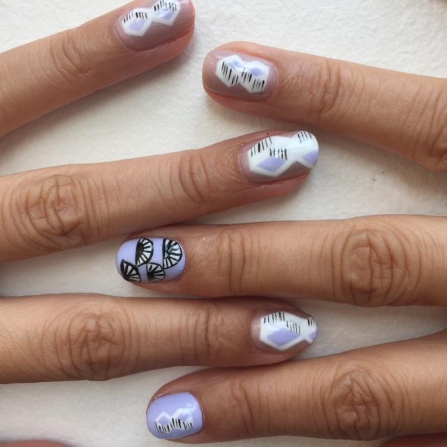 Miu Miu nails close-up
