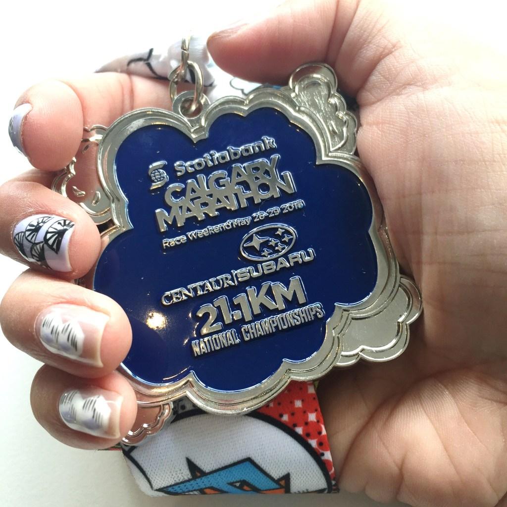 Calgary Half-marathon medal 2016