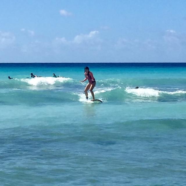 surfing in Barbados Dec 2016