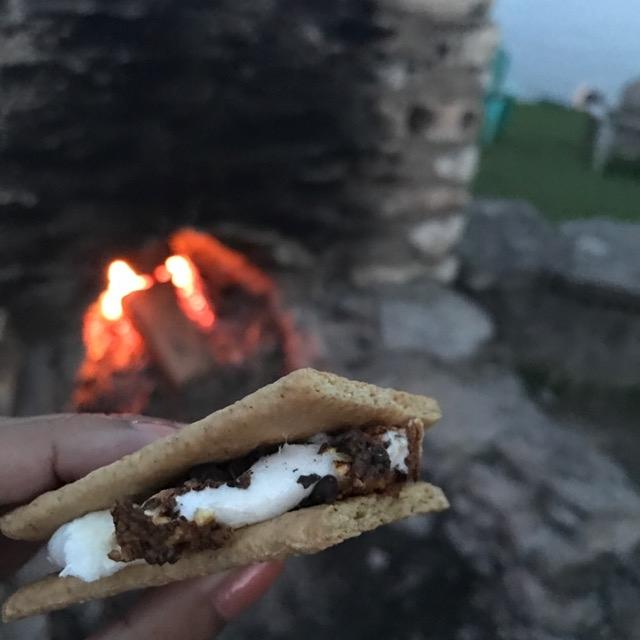 smores at Viamede campfire