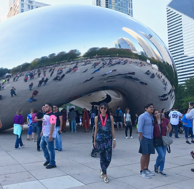 Chicago Marathon 2017 at Cloud Gate