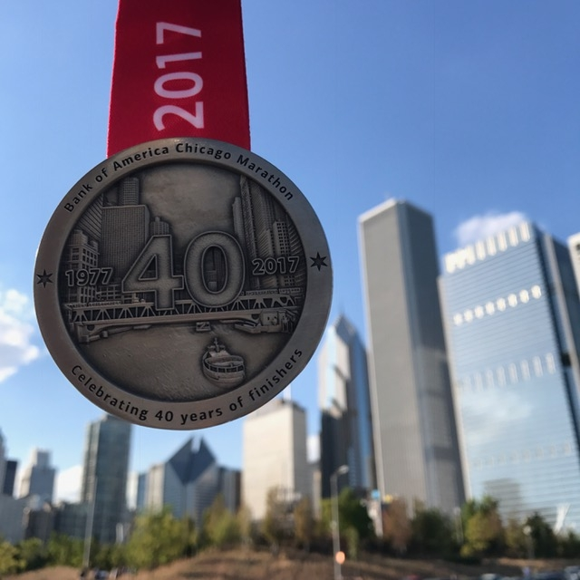 Chicago Marathon 2017 medal