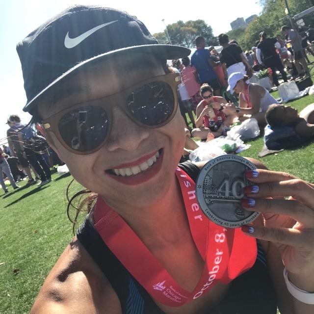 Chicago Marathon 2017 selfie
