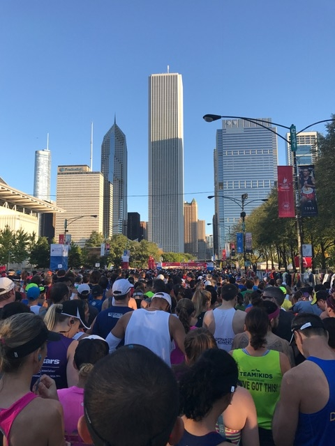 Chicago Marathon 2017 starting chute