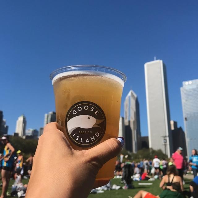 Chicago Marathon Goose Island beer