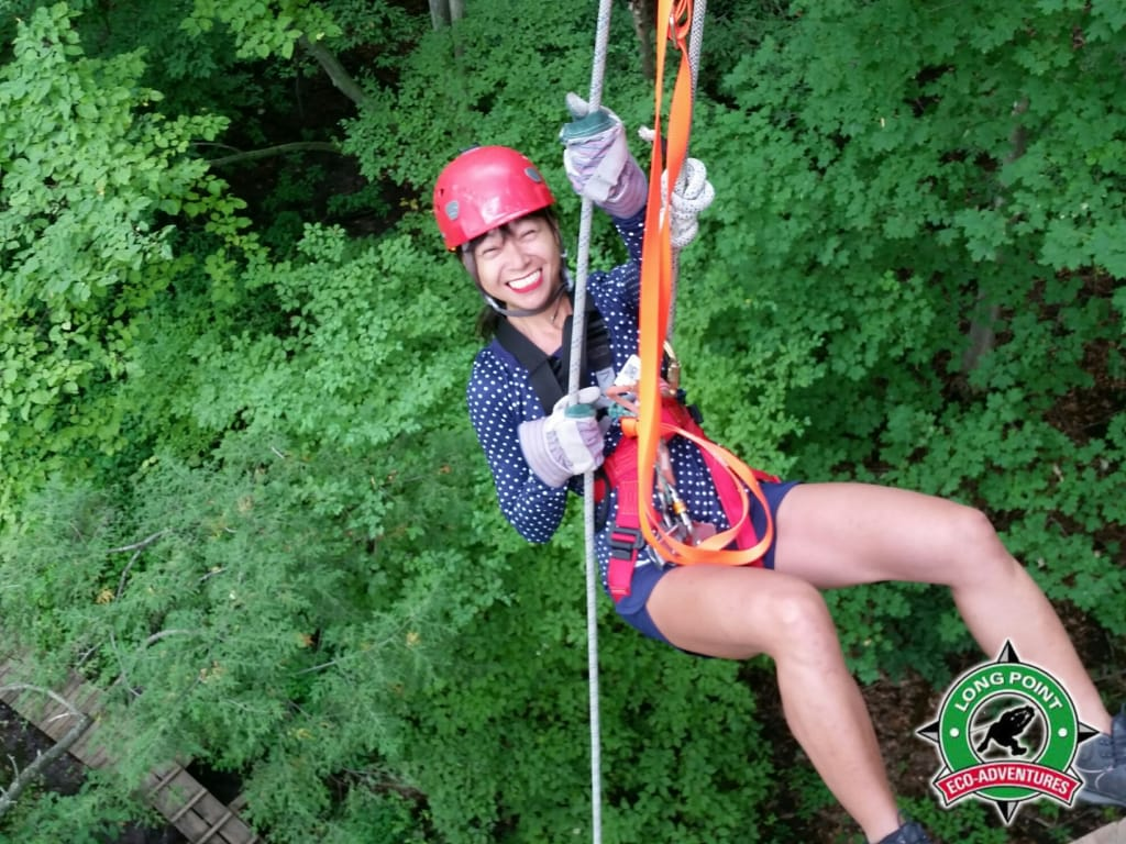 Long Point Eco Adv ziplining