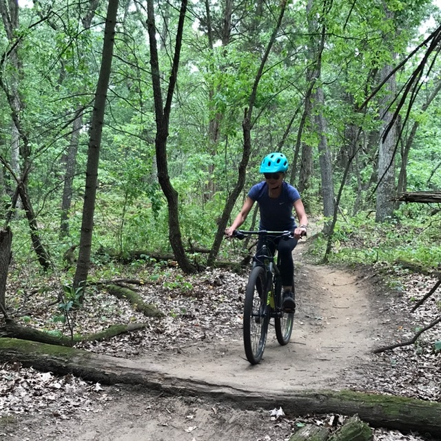 Mountain biking at Turkey Point
