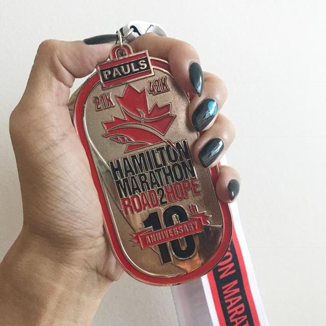Hamilton Marathon 2017 medal
